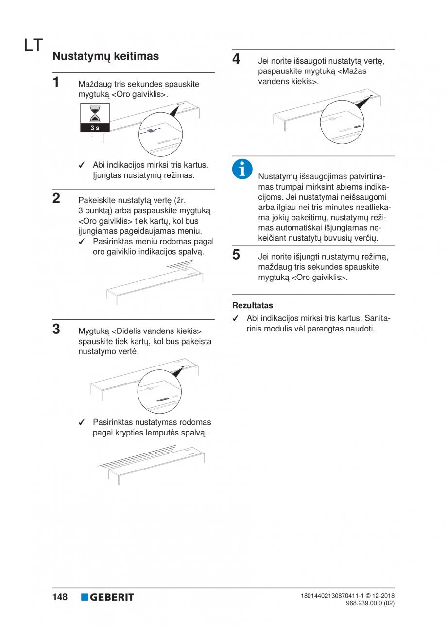Pagina 148 - Manualul utilizatorului pentru modulul sanitar Monolith Plus GEBERIT Monolith...