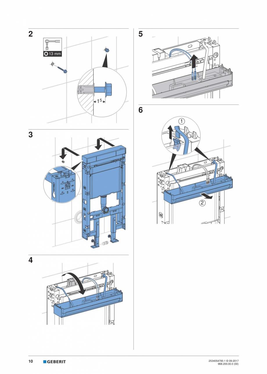 Pagina 10 - Instructiuni de instalare pentru modulul sanitar Monolith Plus GEBERIT Monolith...