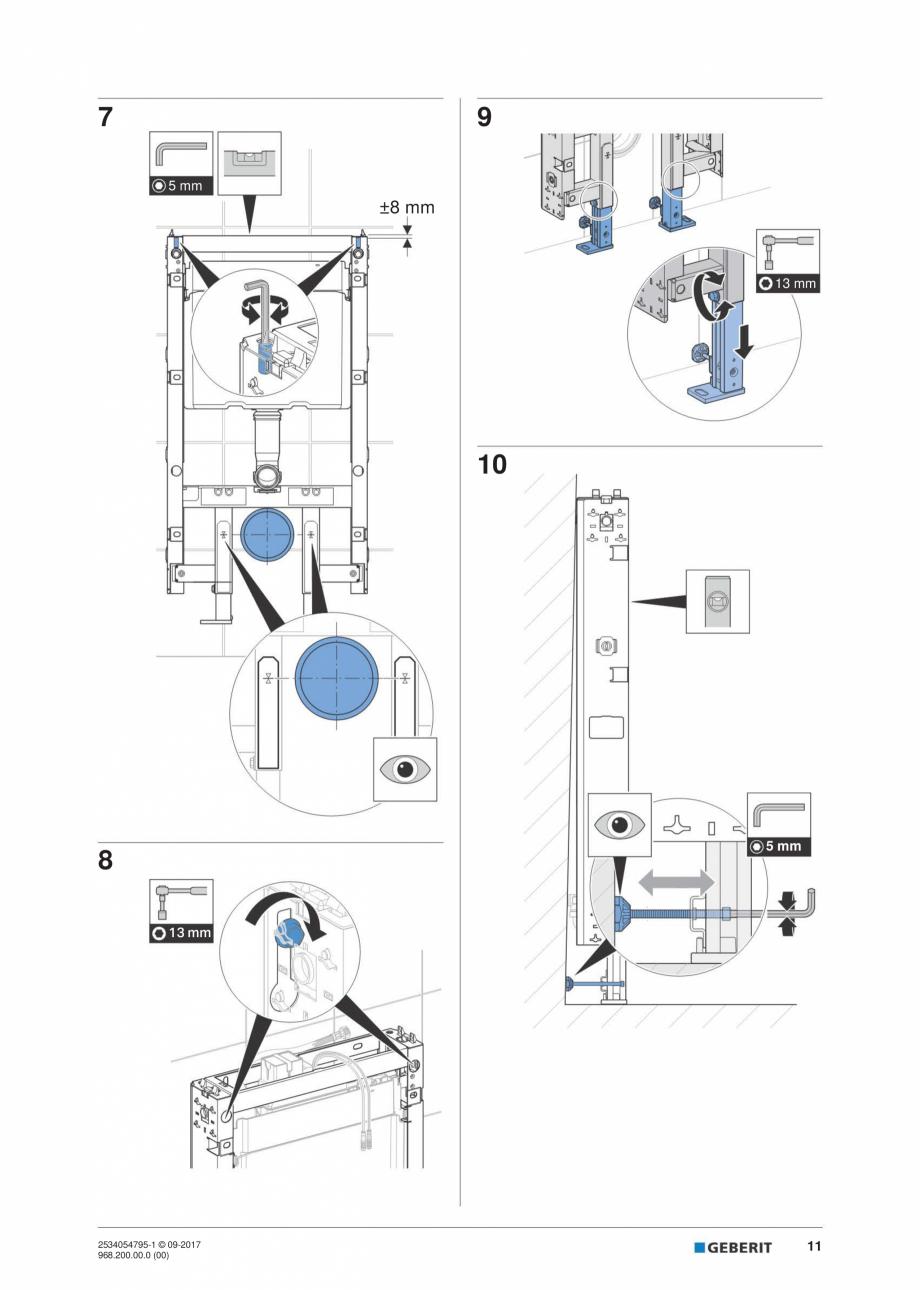 Pagina 11 - Instructiuni de instalare pentru modulul sanitar Monolith Plus GEBERIT Monolith...