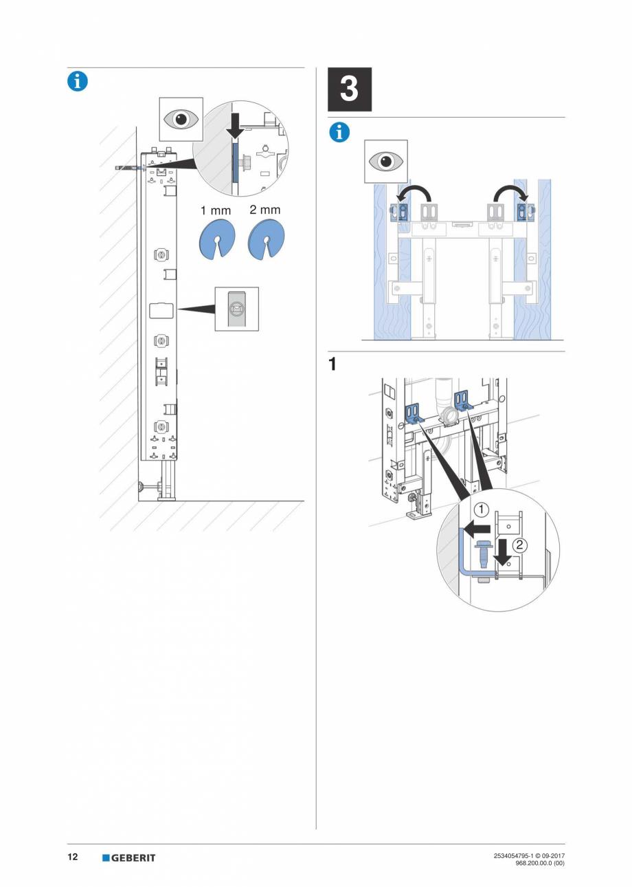 Pagina 12 - Instructiuni de instalare pentru modulul sanitar Monolith Plus GEBERIT Monolith...