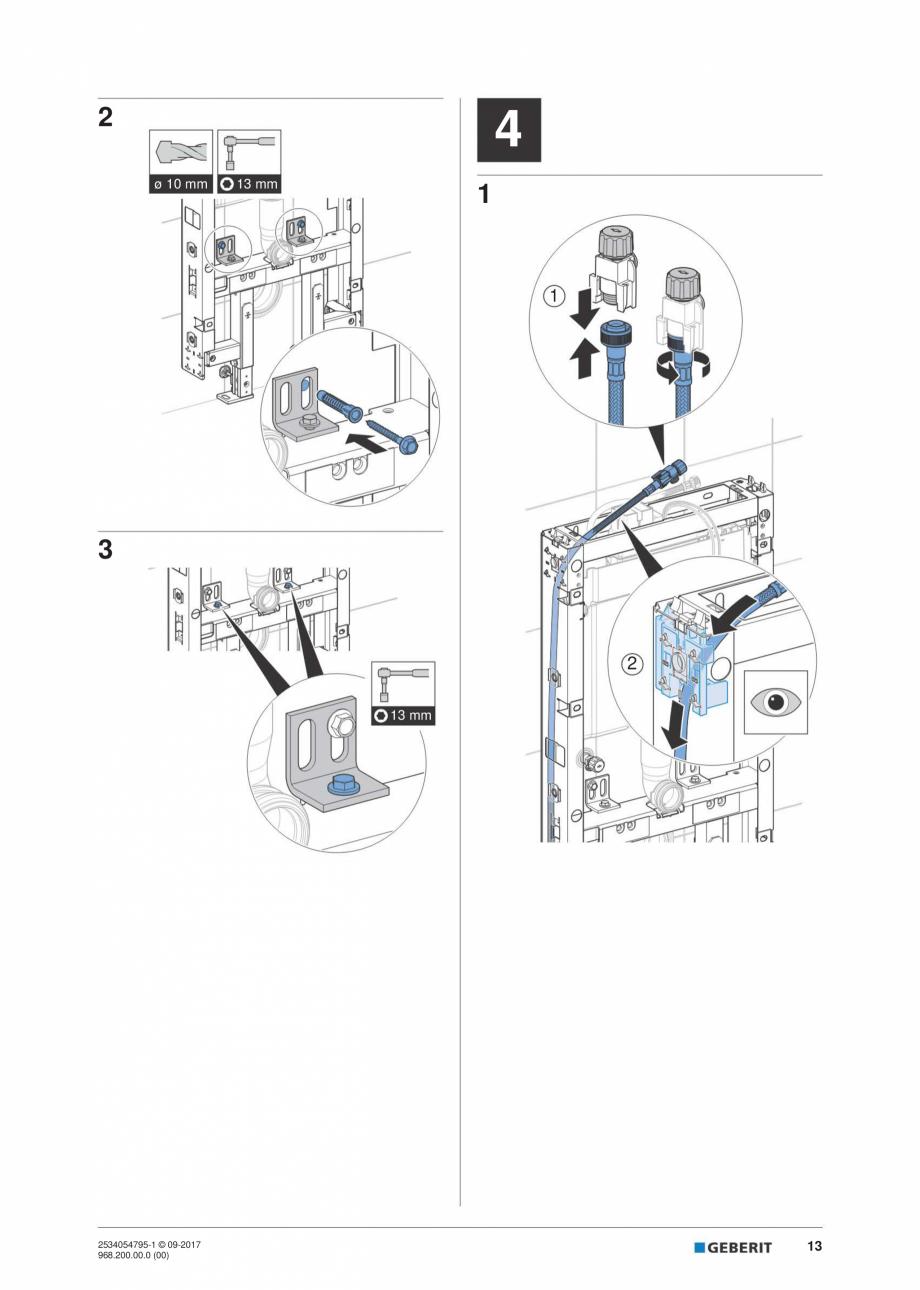 Pagina 13 - Instructiuni de instalare pentru modulul sanitar Monolith Plus GEBERIT Monolith...