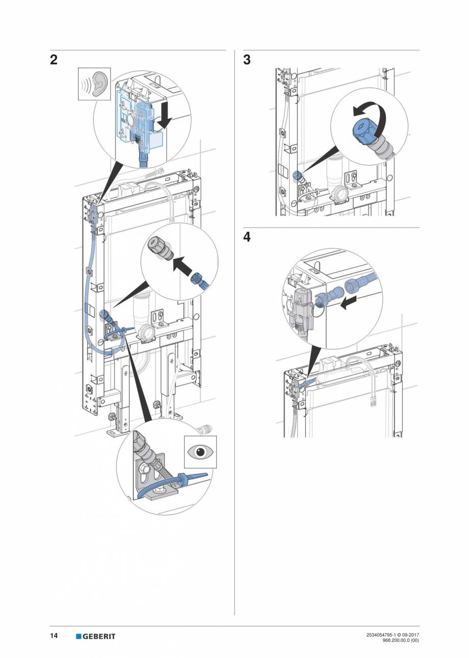 Pagina 14 - Instructiuni de instalare pentru modulul sanitar Monolith Plus GEBERIT Monolith...