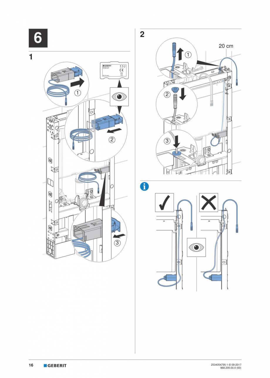 Pagina 16 - Instructiuni de instalare pentru modulul sanitar Monolith Plus GEBERIT Monolith...