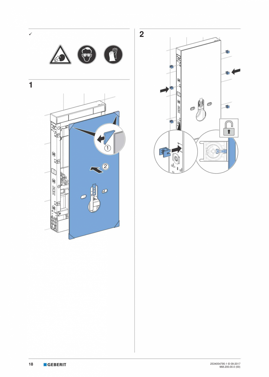 Pagina 18 - Instructiuni de instalare pentru modulul sanitar Monolith Plus GEBERIT Monolith...