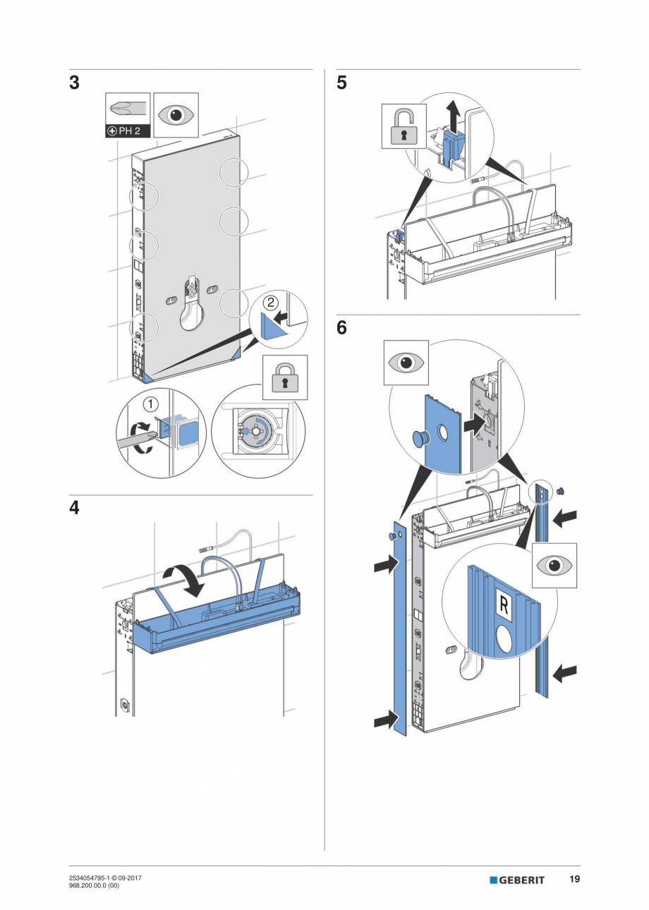 Pagina 19 - Instructiuni de instalare pentru modulul sanitar Monolith Plus GEBERIT Monolith...