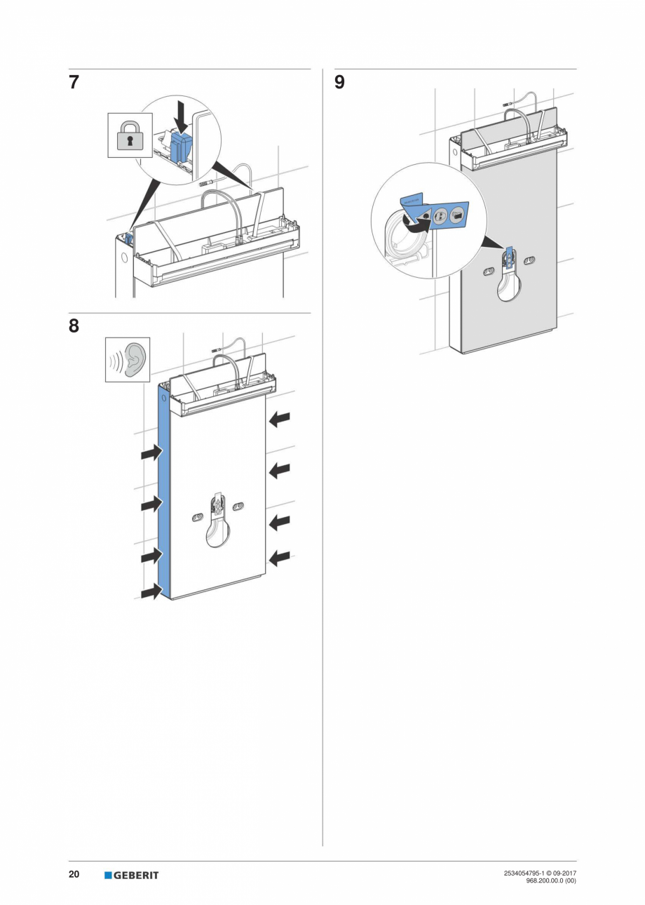 Pagina 20 - Instructiuni de instalare pentru modulul sanitar Monolith Plus GEBERIT Monolith...
