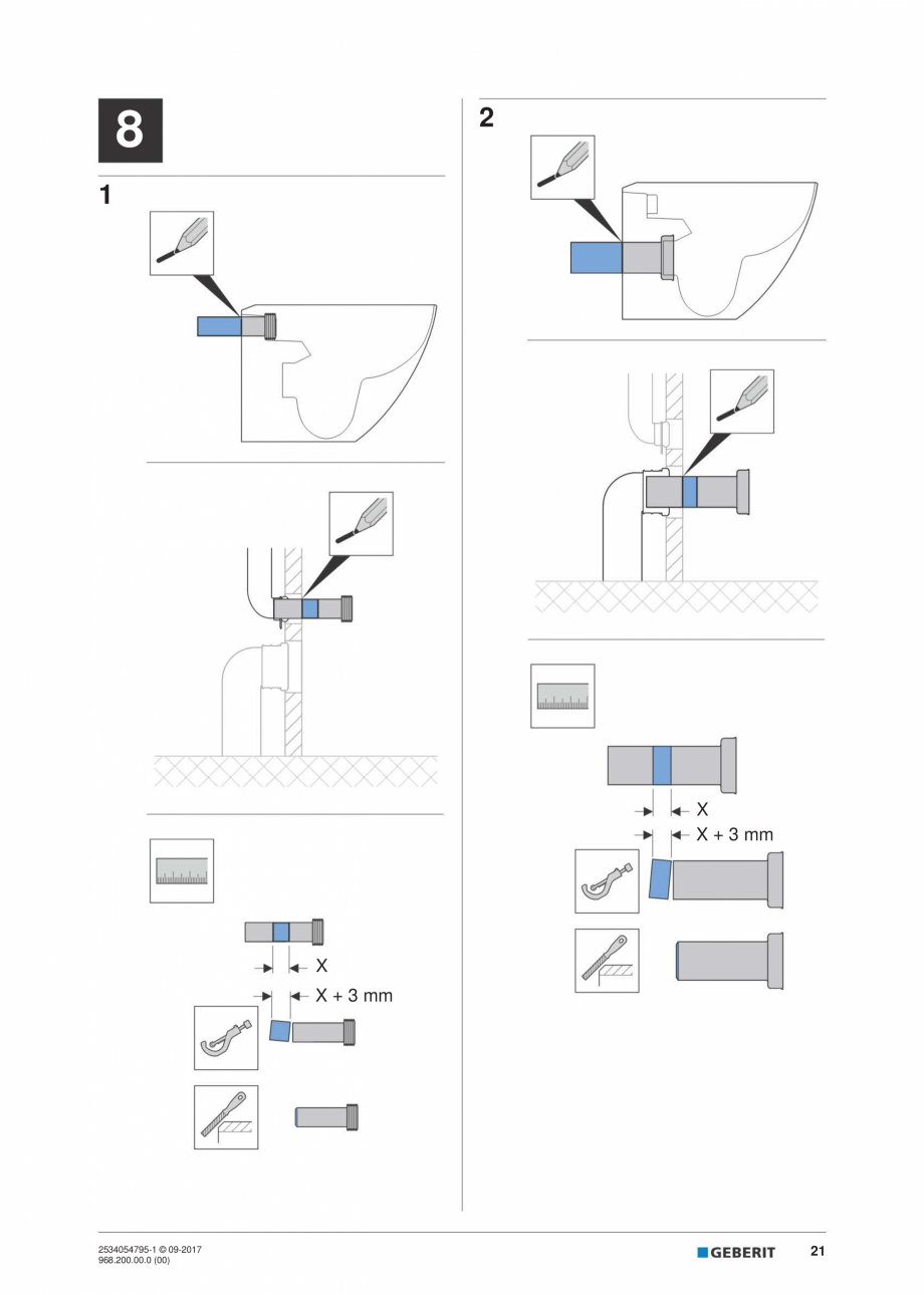 Pagina 21 - Instructiuni de instalare pentru modulul sanitar Monolith Plus GEBERIT Monolith...