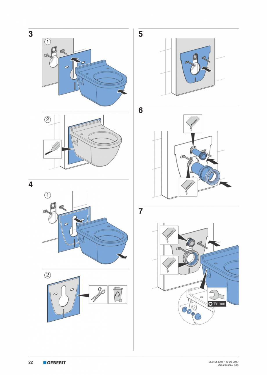 Pagina 22 - Instructiuni de instalare pentru modulul sanitar Monolith Plus GEBERIT Monolith...