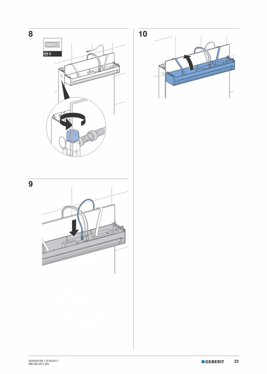 Pagina 23 - Instructiuni de instalare pentru modulul sanitar Monolith Plus GEBERIT Monolith...