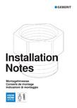 Instructiuni de montaj pentru modulul sanitar Monolith PLus GEBERIT - Monolith