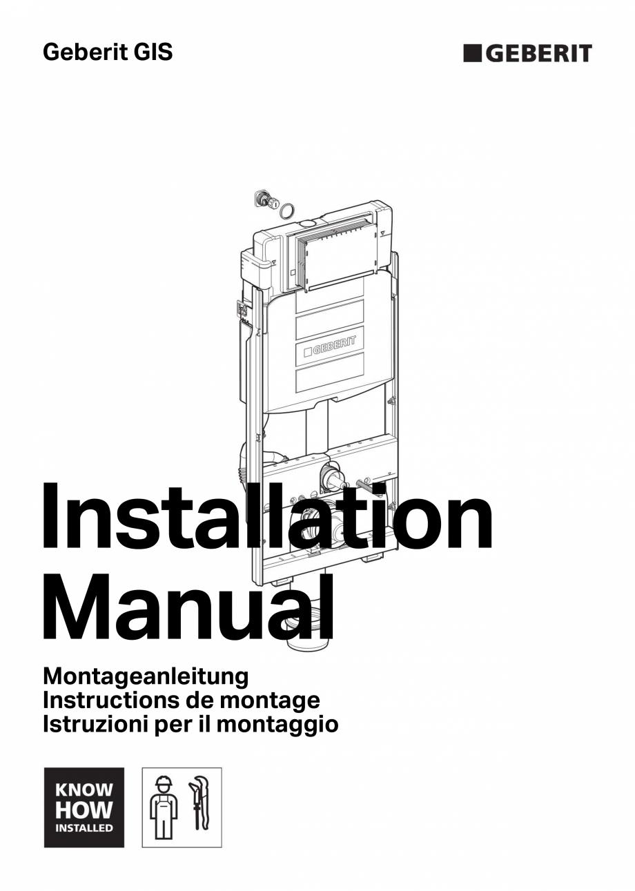 Pagina 1 - Instructiuni de montaj pentru sistemul Geberit GIS GEBERIT Instructiuni montaj, utilizare...
