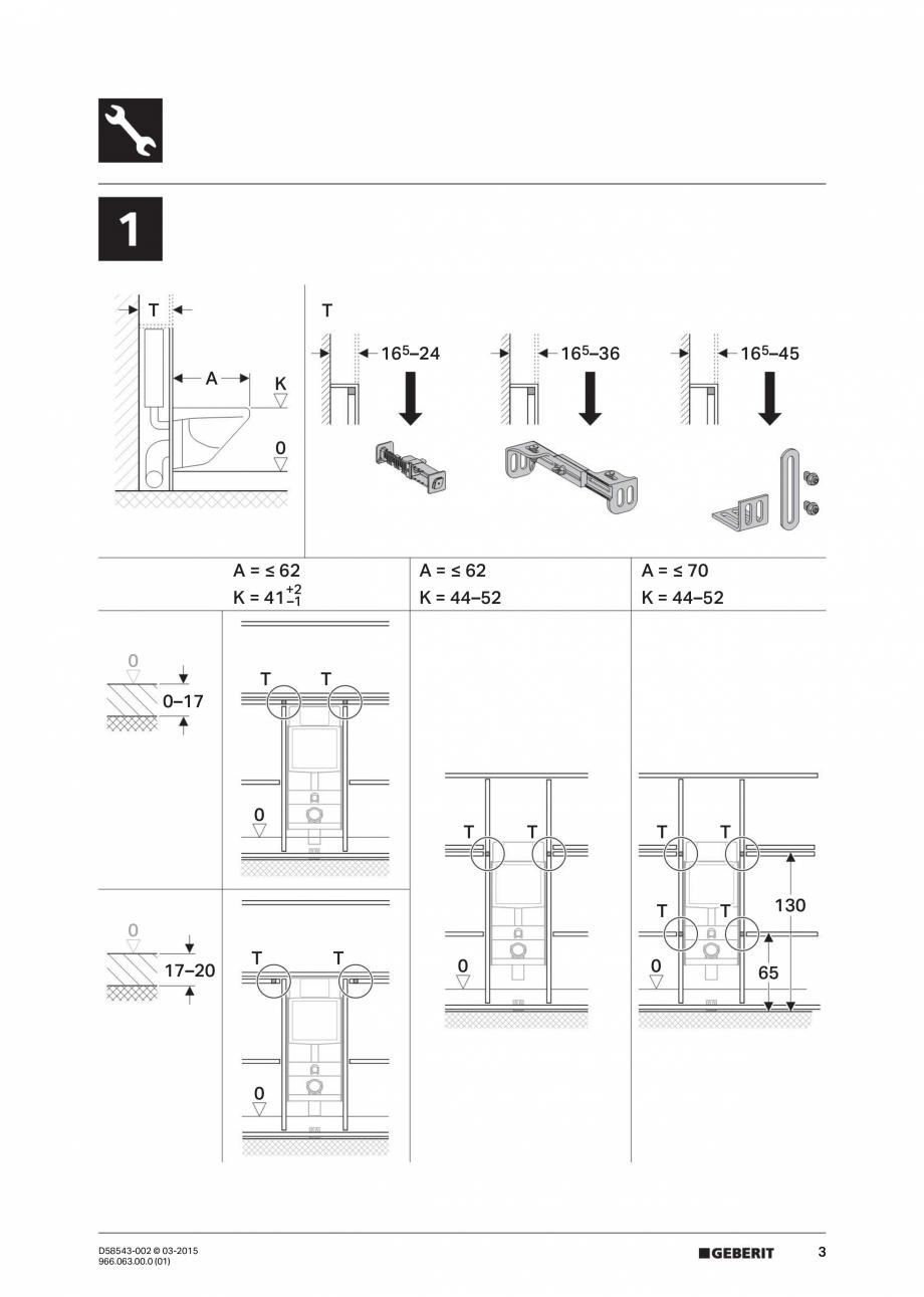 Pagina 3 - Instructiuni de montaj pentru sistemul Geberit GIS GEBERIT Instructiuni montaj, utilizare...