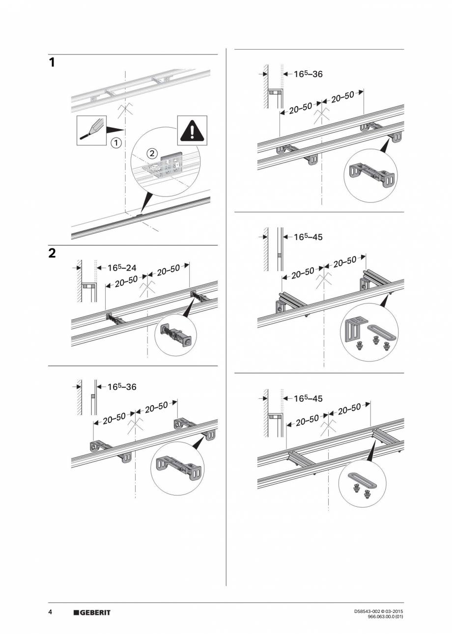Pagina 4 - Instructiuni de montaj pentru sistemul Geberit GIS GEBERIT Instructiuni montaj, utilizare...