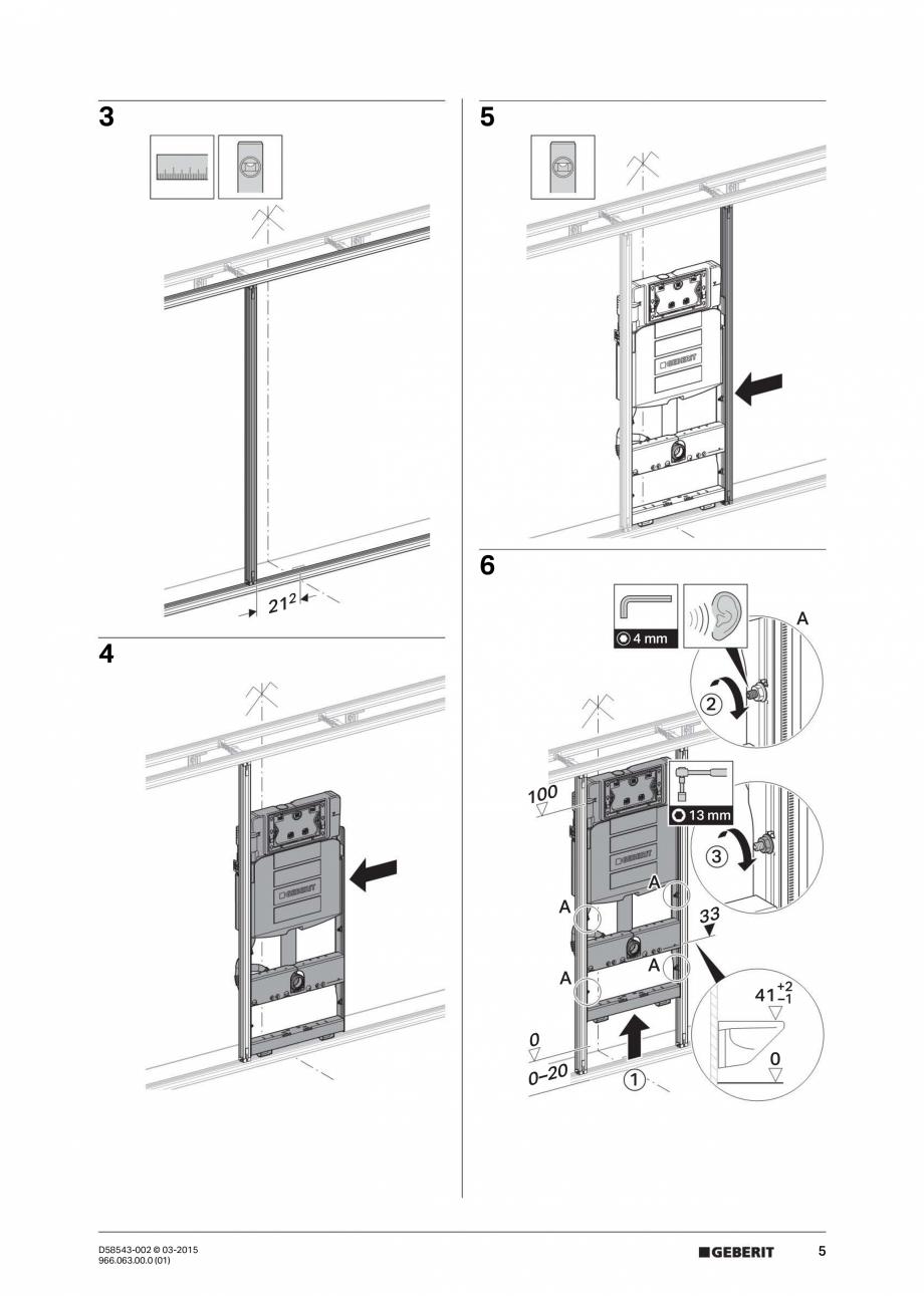 Pagina 5 - Instructiuni de montaj pentru sistemul Geberit GIS GEBERIT Instructiuni montaj, utilizare...
