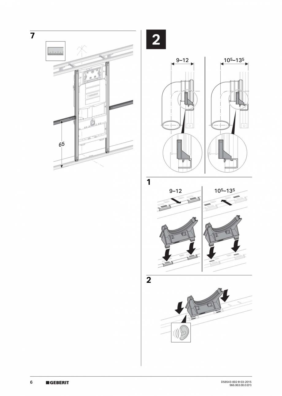 Pagina 6 - Instructiuni de montaj pentru sistemul Geberit GIS GEBERIT Instructiuni montaj, utilizare...
