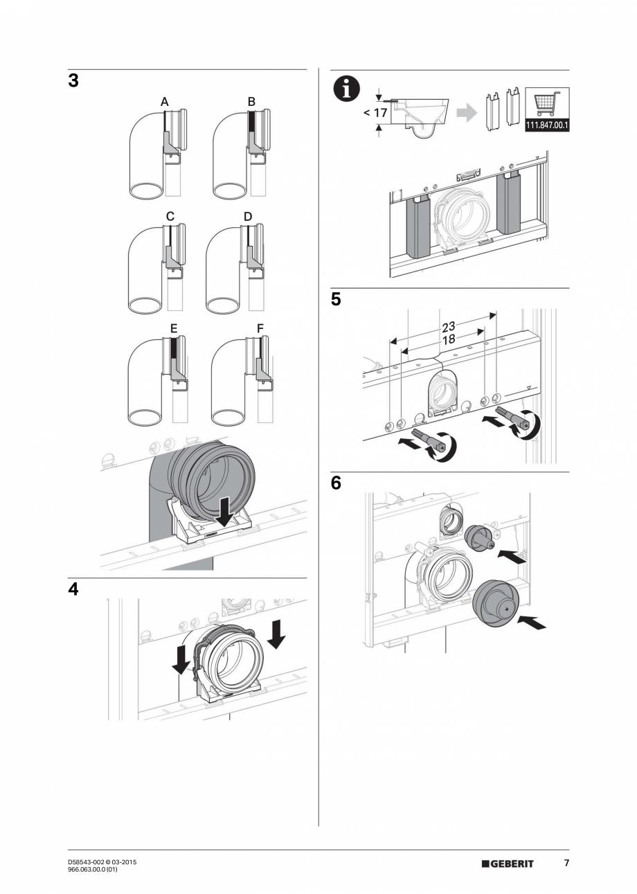 Pagina 7 - Instructiuni de montaj pentru sistemul Geberit GIS GEBERIT Instructiuni montaj, utilizare...