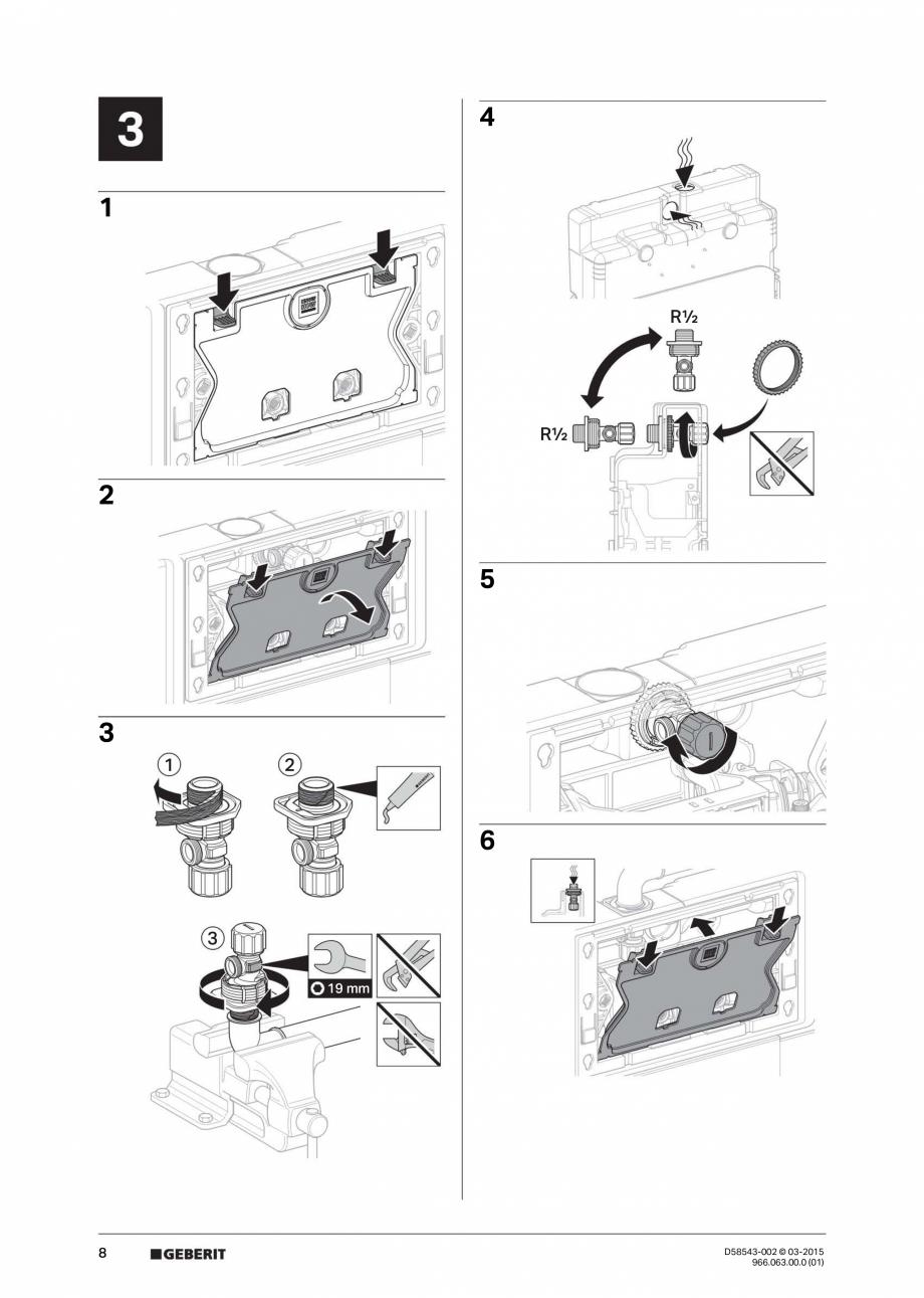 Pagina 8 - Instructiuni de montaj pentru sistemul Geberit GIS GEBERIT Instructiuni montaj, utilizare...
