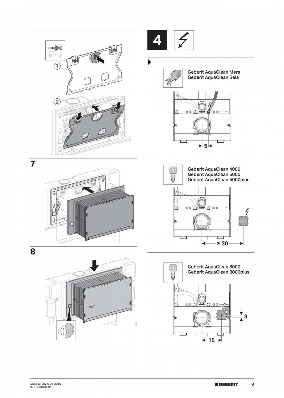 Pagina 9 - Instructiuni de montaj pentru sistemul Geberit GIS GEBERIT Instructiuni montaj, utilizare...