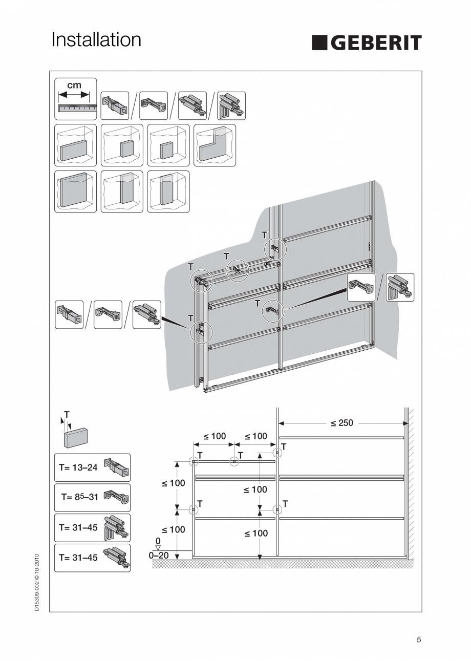 Pagina 5 - Instructiuni de instalare a sistemului GIS GEBERIT Instructiuni montaj, utilizare Engleza...