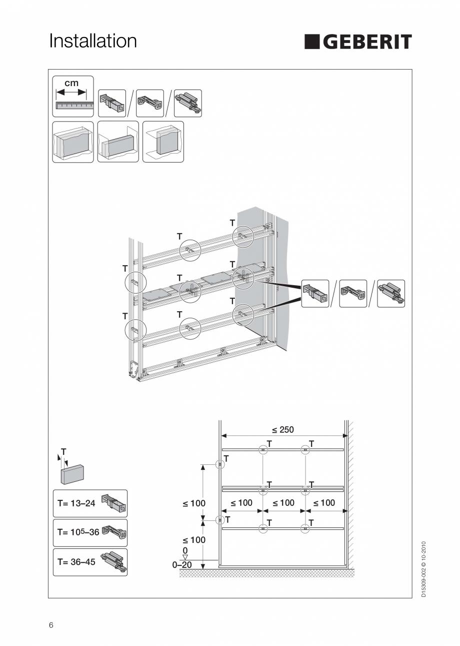 Pagina 6 - Instructiuni de instalare a sistemului GIS GEBERIT Instructiuni montaj, utilizare Engleza...