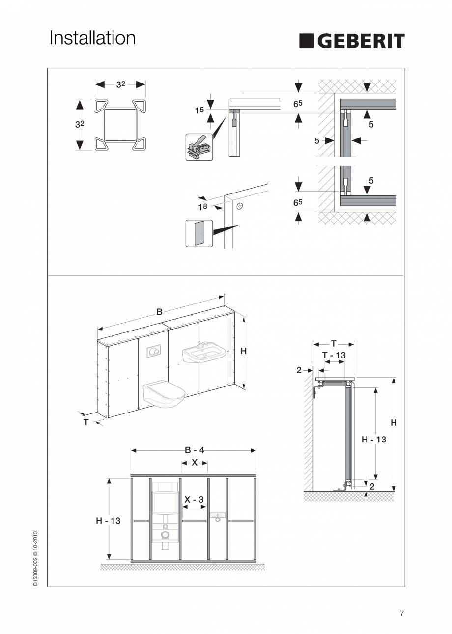 Pagina 7 - Instructiuni de instalare a sistemului GIS GEBERIT Instructiuni montaj, utilizare Engleza...