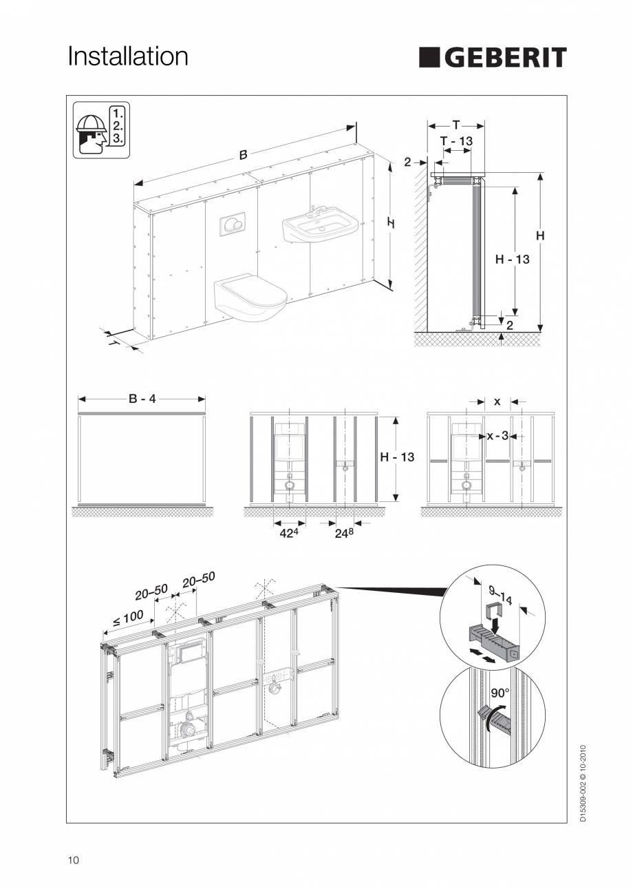 Pagina 10 - Instructiuni de instalare a sistemului GIS GEBERIT Instructiuni montaj, utilizare...