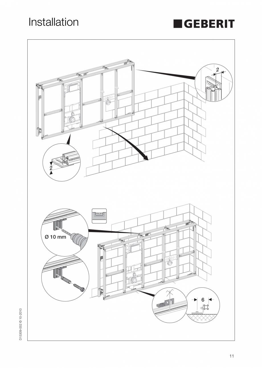 Pagina 11 - Instructiuni de instalare a sistemului GIS GEBERIT Instructiuni montaj, utilizare...
