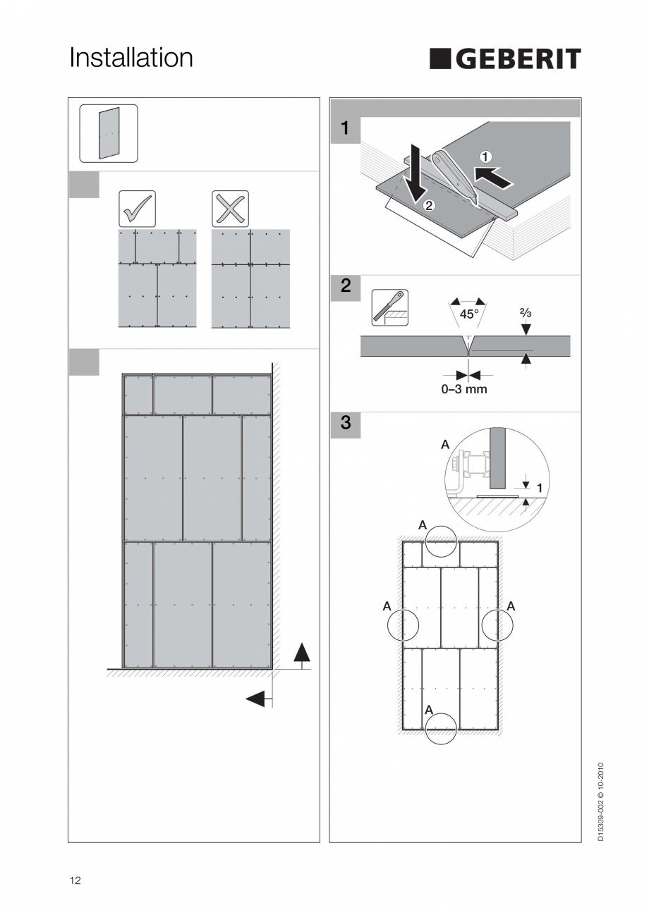 Pagina 12 - Instructiuni de instalare a sistemului GIS GEBERIT Instructiuni montaj, utilizare...