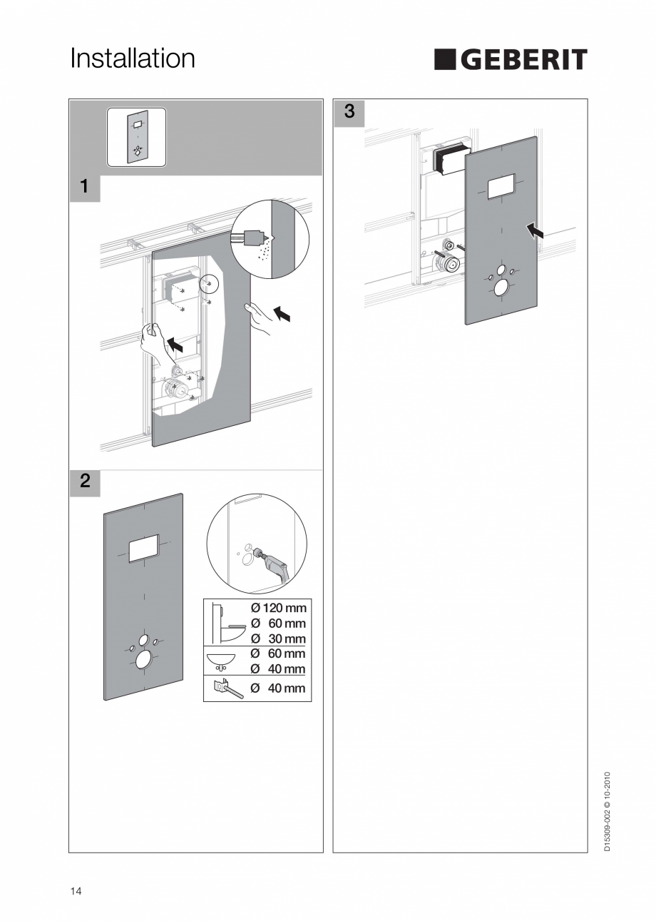 Pagina 14 - Instructiuni de instalare a sistemului GIS GEBERIT Instructiuni montaj, utilizare...