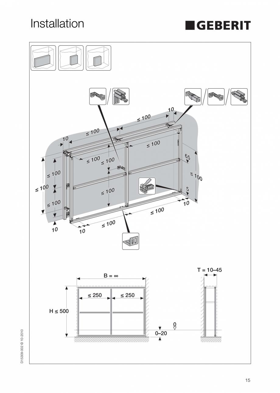 Pagina 15 - Instructiuni de instalare a sistemului GIS GEBERIT Instructiuni montaj, utilizare...