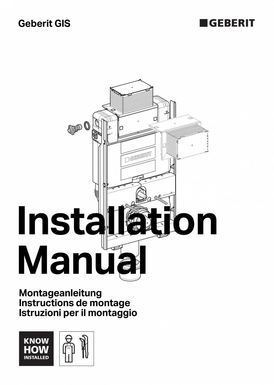 Pagina 1 - Instructiuni de montaj pentru elementul de instalare Geberit GIS, pentru WC suspendat...