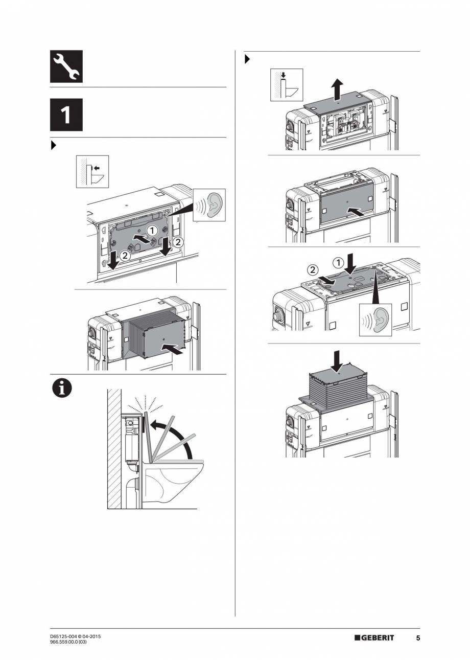 Pagina 5 - Instructiuni de montaj pentru elementul de instalare Geberit GIS, pentru WC suspendat...