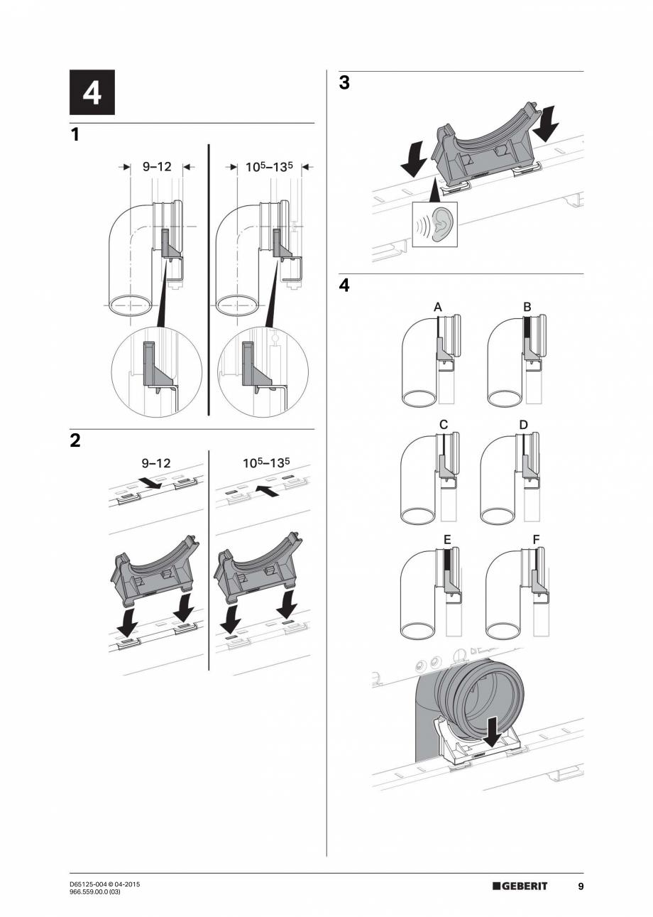 Pagina 9 - Instructiuni de montaj pentru elementul de instalare Geberit GIS, pentru WC suspendat...