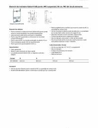 Element de instalare Geberit GIS pentru WC suspendat, 95 cm, WC din doua elemente