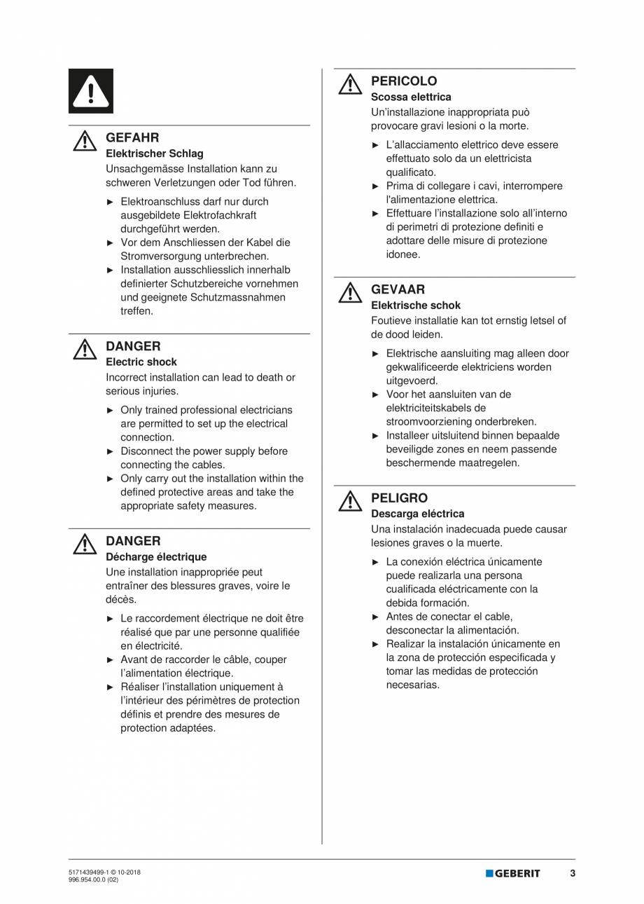 Pagina 3 - Manual de instalare pentru elementul  Geberit GIS pentru pisoar   GEBERIT Instructiuni...