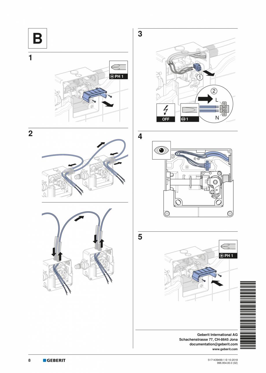 Pagina 8 - Manual de instalare pentru elementul  Geberit GIS pentru pisoar   GEBERIT Instructiuni...