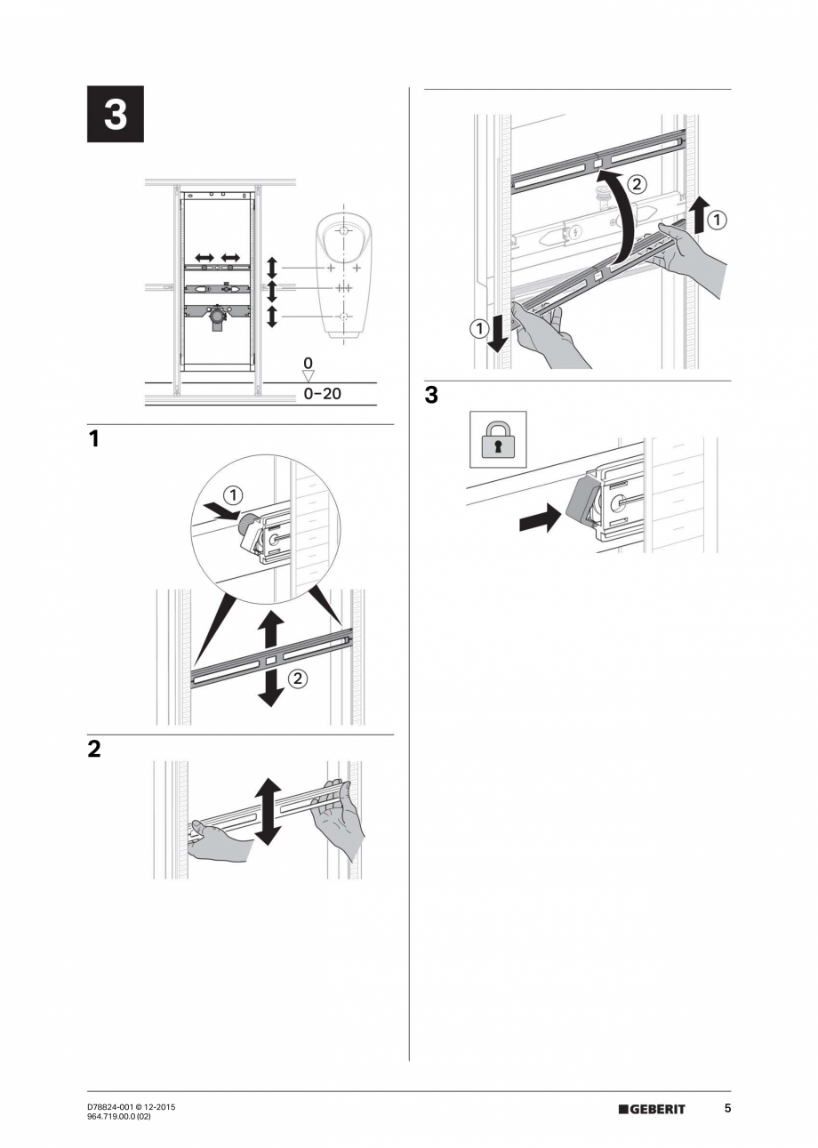 Pagina 5 - Manual de instalare pentru  element  Geberit GIS pentru pisoar, universal, pentru sistem ...