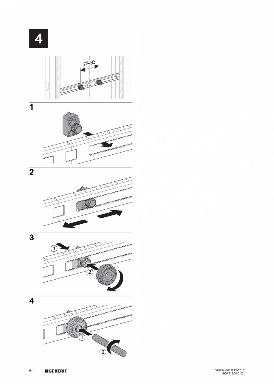 Pagina 6 - Manual de instalare pentru  element  Geberit GIS pentru pisoar, universal, pentru sistem ...