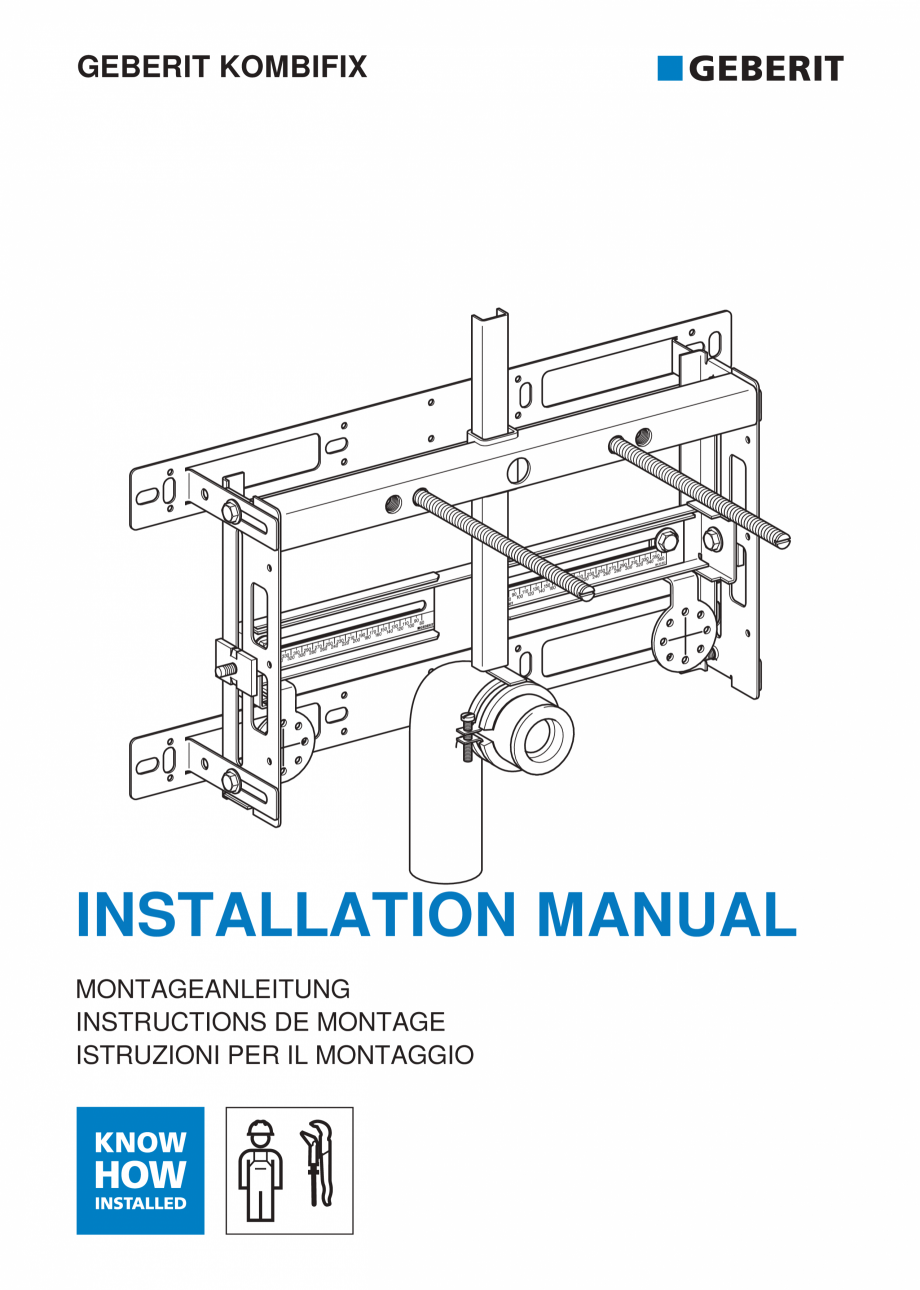 Pagina 1 - Instructiuni de instalare pentru elementul Geberit Kombifix pentru bideu, universal ...