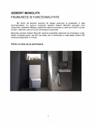Frumusete si functionalitate - prezentarea modulului sanitar Geberit