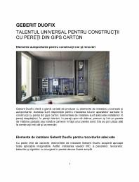 Talentul universal pentru constructii cu pereti din gips carton - prezentarea sistemului Geberit Duofix