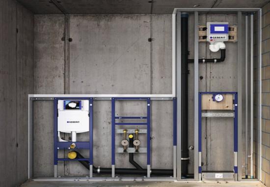 Sisteme de montaj incastrate pentru WC, pisoare, bideuri si lavoare GEBERIT