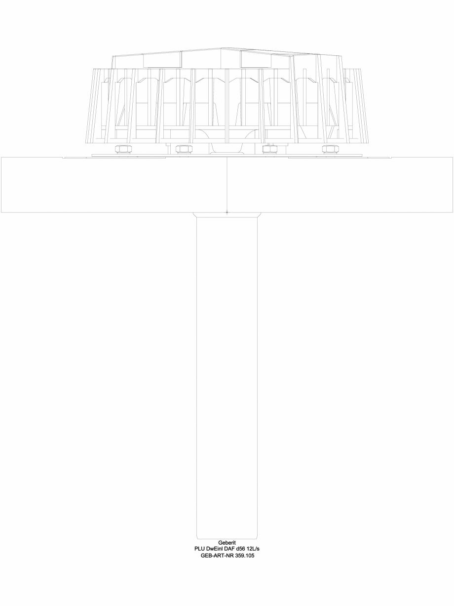 Pagina 1 - CAD-DWG Receptor de terasa Geberit Pluvia cu flansa de fixare, pentru folii de...