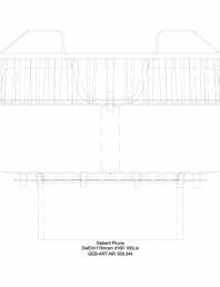 Receptor de terasa Geberit Pluvia pentru jgheaburi - capacit evacuare 100l - cod 359 344 00