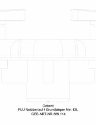 Preaplin de urgenta Geberit Pluvia - cod 359.114.00.1_A