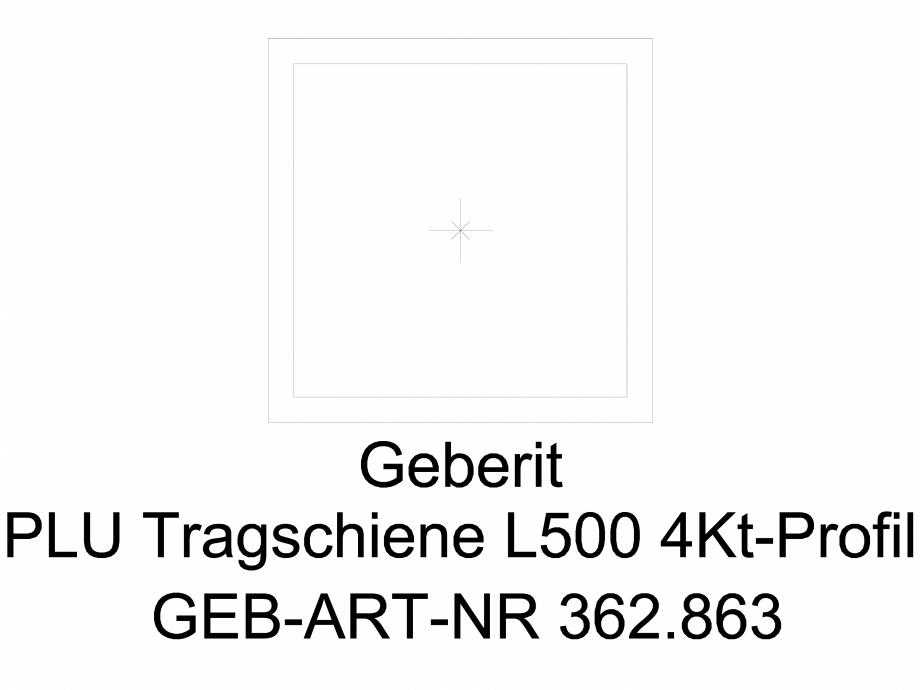 Pagina 1 - CAD-DWG Bara suport Geberit Pluvia cod 362.863.26.1_G GEBERIT Detaliu de produs