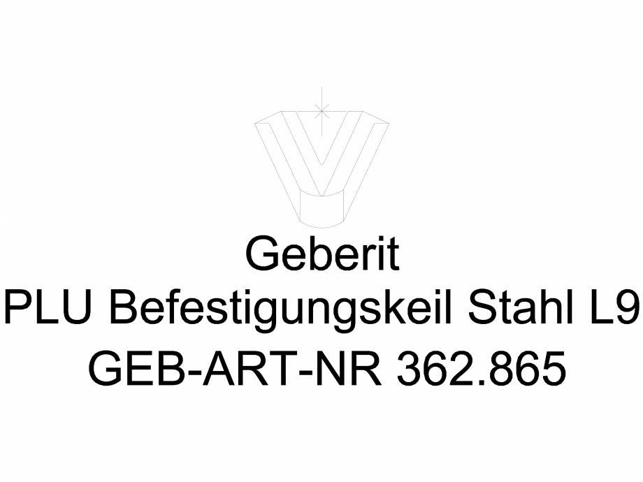 Pagina 1 - CAD-DWG Pana de fixare Geberit Pluvia cod 362.865.26.1_L GEBERIT Detaliu de produs...