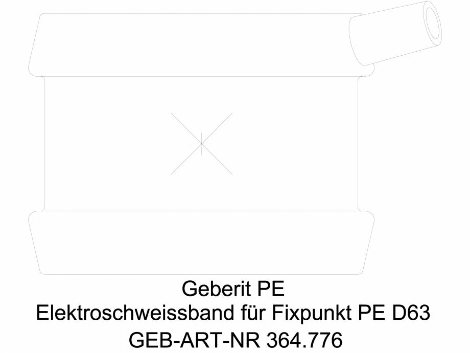Pagina 1 - CAD-DWG Banda de electrofuziune Geberit pentru punct fix cod 364.776.16.1_L GEBERIT...
