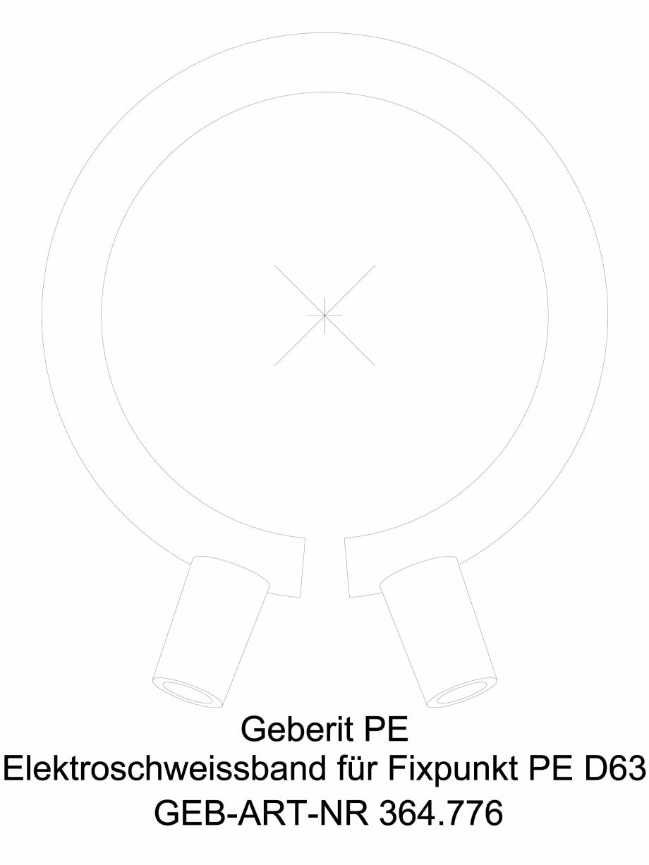 Pagina 1 - CAD-DWG Banda de electrofuziune Geberit pentru punct fix cod 364.776.16.1_G GEBERIT...