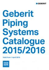Sisteme de conducte Geberit 2015-2016 GEBERIT